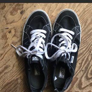 Vans Black Low Top Lace Up Sneakers